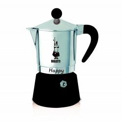 Caffettiera 3 tazze HAPPY Nera
